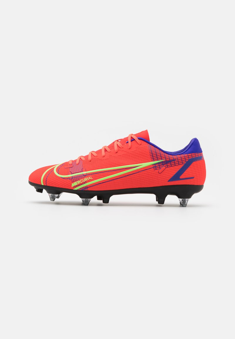 Nike Performance - MERCURIAL VAPOR 14 ACADEMY SG-PRO AC - Screw-in stud football boots - bright crimson/metallic silver