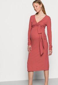 MAMALICIOUS - NURSING DRESS - Jersey dress - dusty cedar - 3