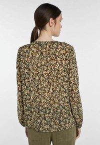 SET - Button-down blouse - black green - 2
