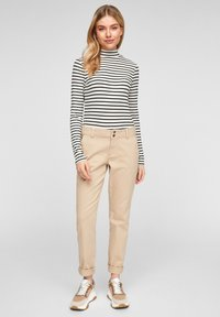 Q/S designed by - Long sleeved top - black stripes - 1