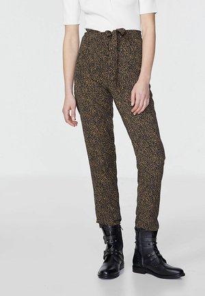 ZEBRA PRINT HIGH WAISTED - Trousers - ocre
