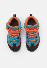 Hi-Tec - CARNIVAL WP JR UNISEX - Hiking shoes - light blue/orange - 3