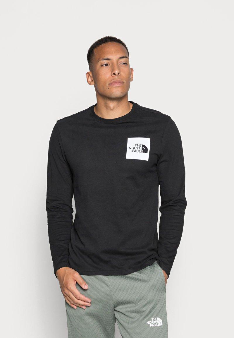 The North Face - FINE TEE  - Långärmad tröja - black/white