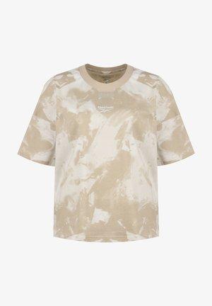 MEET YOU THERE TIE DYE - Print T-shirt - modern beige / white
