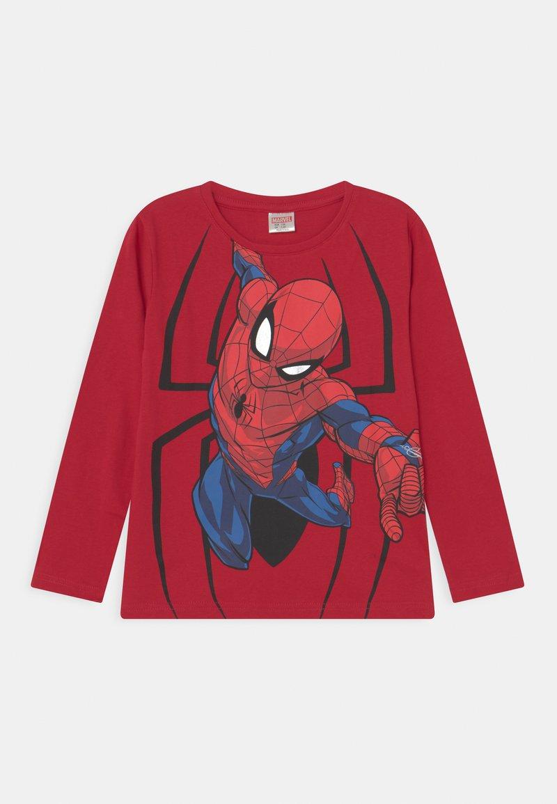 Lindex - MINI TOP MARVEL SPIDERMAN - Long sleeved top - dark red