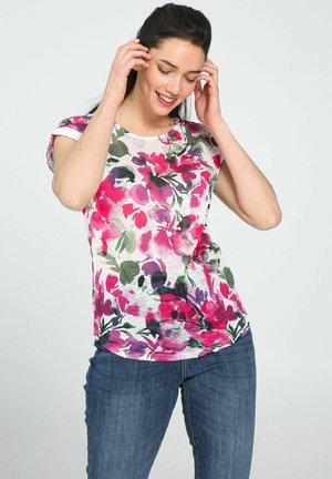 T-shirt con stampa - fushia