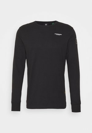 BASE R T L\S - Long sleeved top - compact jersey o - dk black