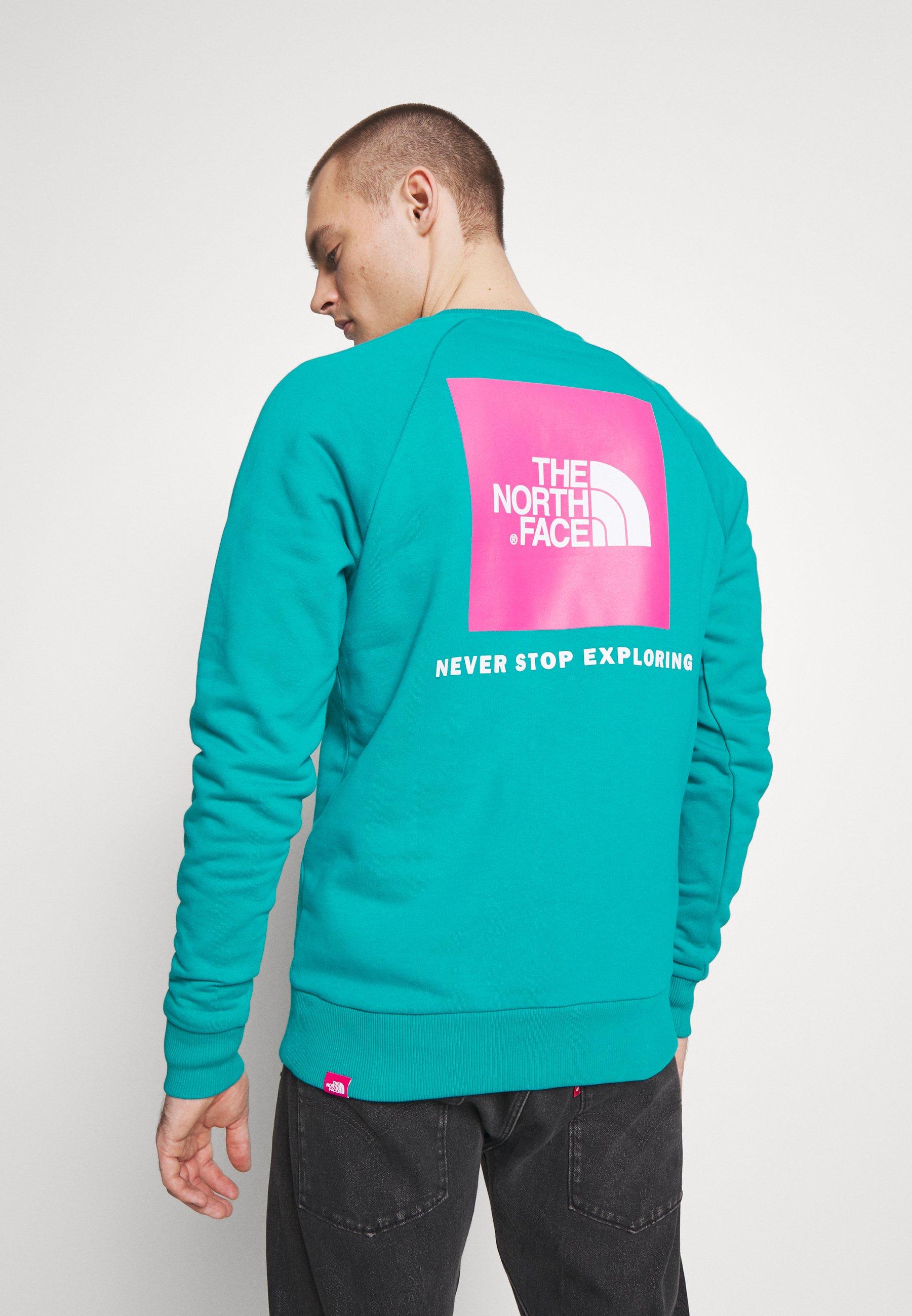 Korkealaatuinen Halpa Miesten vaatteet Sarja dfKJIUp97454sfGHYHD The North Face RAGLAN BOX CREW Collegepaita jaiden green