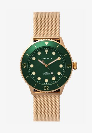 DIVER 40MM MESH - Montre - rose gold-green