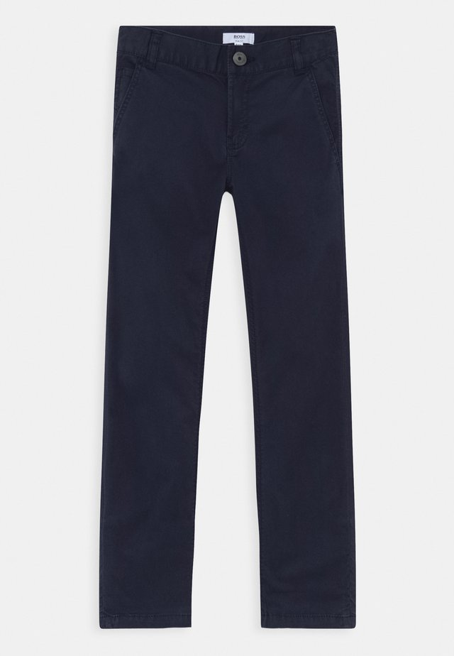 TROUSERS - Pantalones chinos - navy