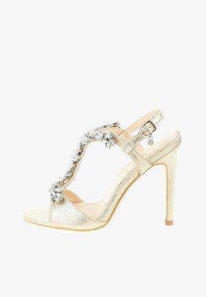 VAGLIODI - Sandály na vysokém podpatku - platinum