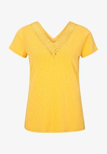 MIT HÄKELSPITZE - Print T-shirt - yellow