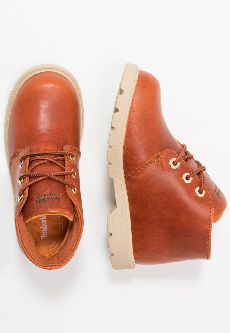 Timberland - CHUKKA WP - Lace-up ankle boots - rust