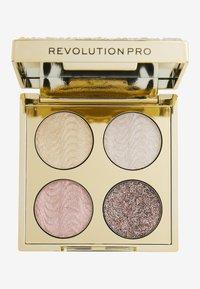 Revolution PRO - ULTIMATE CRYSTAL EYE QUAD - Palette occhi - champagne crystal - 0