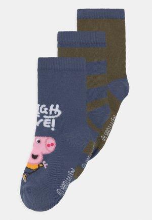 NMMPEPPAPIG 3 PACK - Socks - vintage indigo