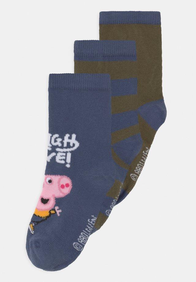 NMMPEPPAPIG 3 PACK - Socken - vintage indigo