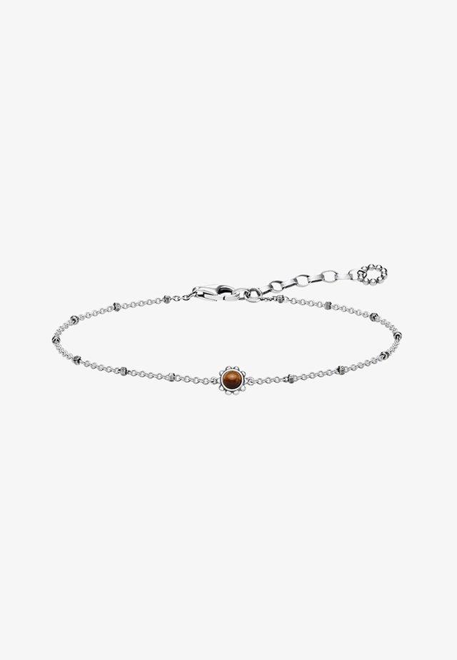Bracelet - silver-coloured/brown