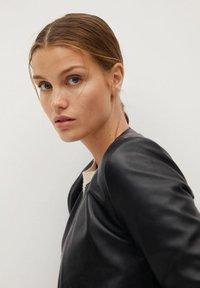 Mango - FELIPAR - Leather jacket - schwarz - 4