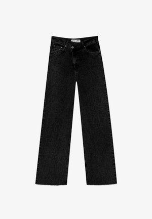MIT ASYMMETRISCHEM BUND  - Džíny Straight Fit - black