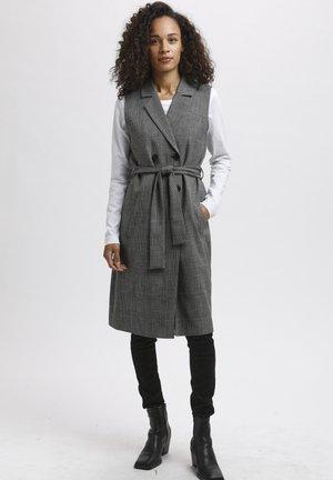KASITINA - Waistcoat - black / grey check