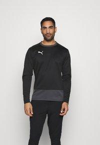 Puma - TEAMGOAL TRAINING  - Fleece jumper - black/asphalt - 0