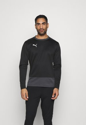 TEAMGOAL TRAINING  - Fleece jumper - black/asphalt