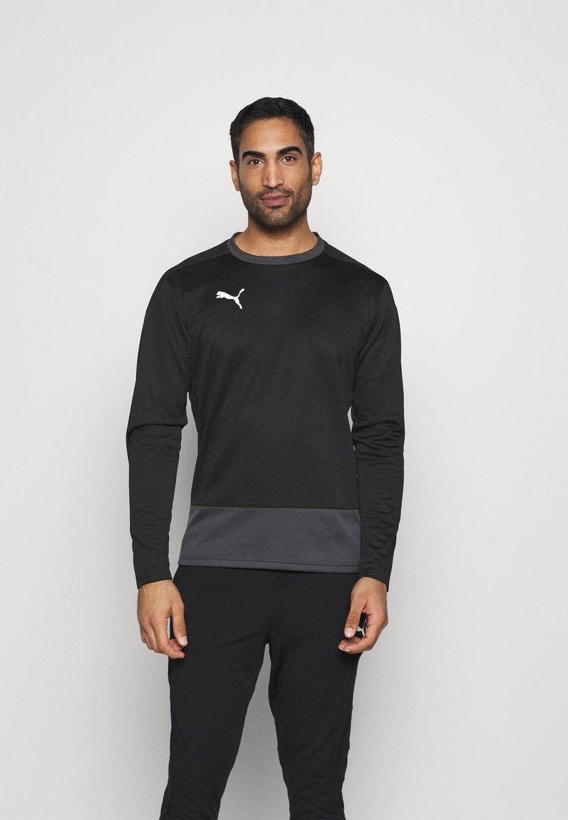 Puma - TEAMGOAL TRAINING  - Fleece jumper - black/asphalt