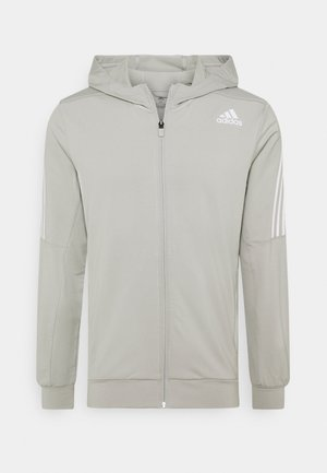 AEROREADY WARMING PRIMEGREEN HOODED - veste en sweat zippée - metal grey