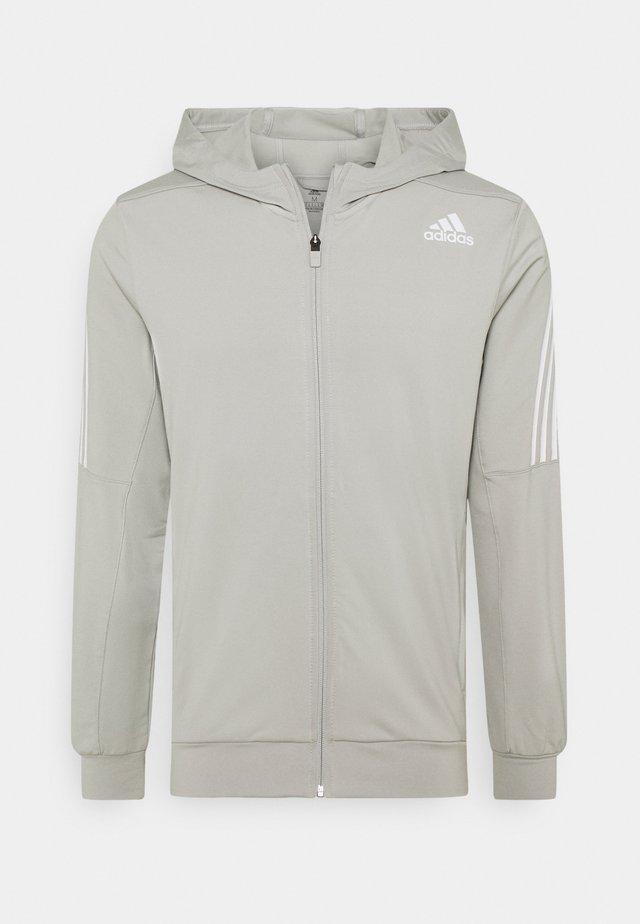 AEROREADY WARMING PRIMEGREEN HOODED - Zip-up hoodie - metal grey