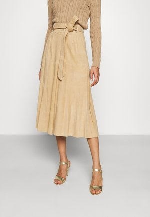 SHIRLAINE MID A LINE - A-line skirt - camel