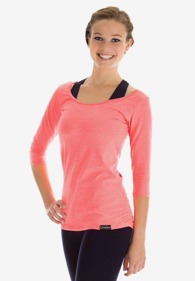 Maglietta a manica lunga - neon coral