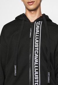 Just Cavalli - FELPA CON ZIP - Zip-up hoodie - black - 5