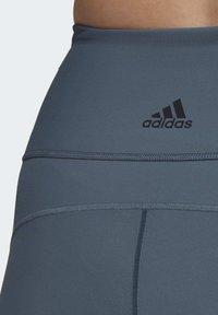 adidas Performance - BELIEVE THIS 3-STRIPES 7/8 LEGGINGS (PLUS SIZE) - Medias - green - 5