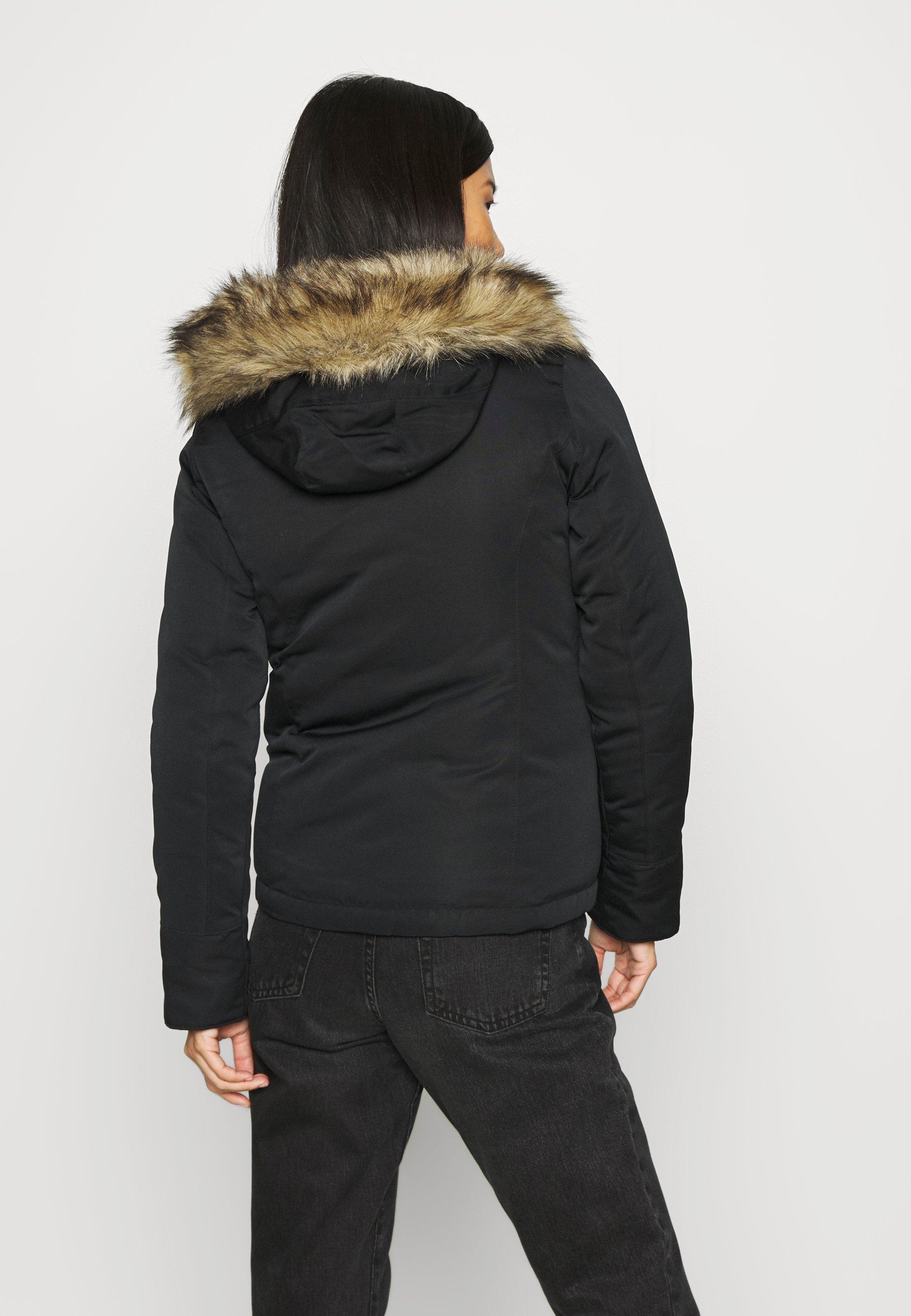 Abercrombie & Fitch MIDWEIGHT TECH  Winterjacke black/schwarz