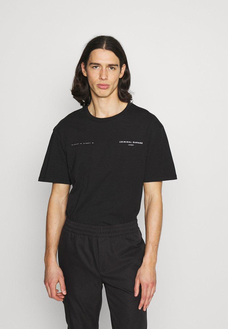 Criminal Damage - DNA TEE - T-shirt imprimé - black