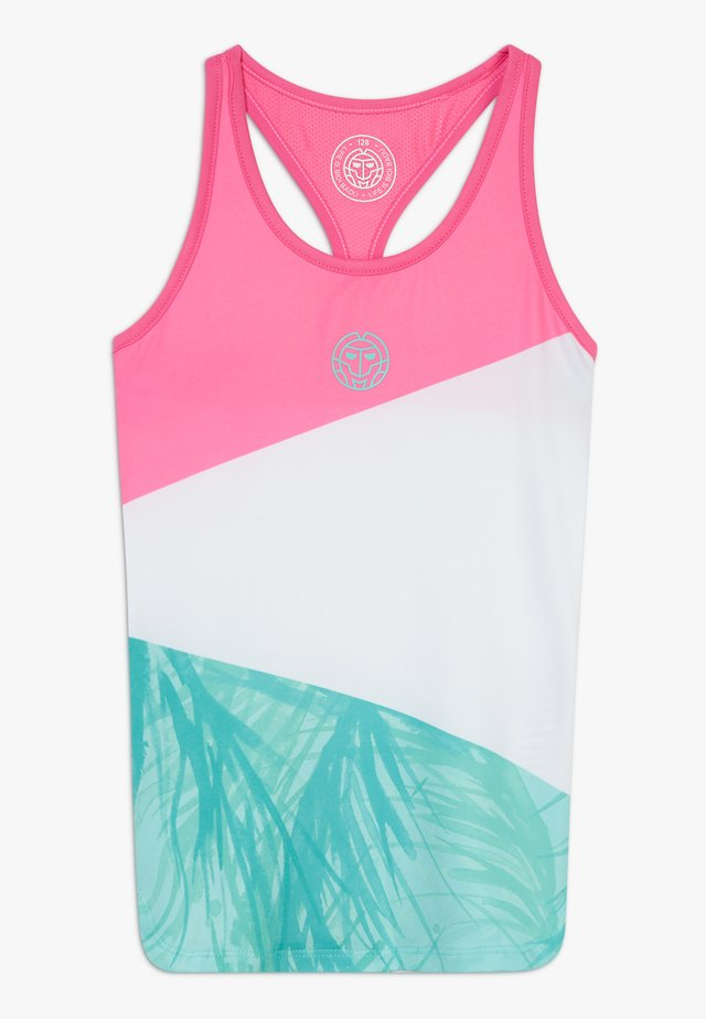 ISALIE TECH TANK - Sports shirt - pink/white/mint