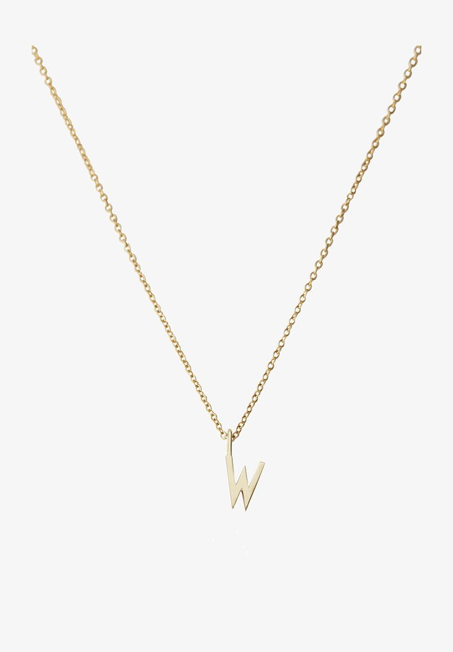 10MM A-Z CHARM WITH 45CM NECKLACE - GOLD - Collier - gold