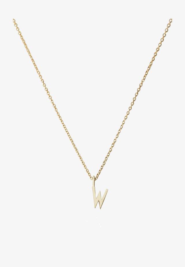 10MM A-Z CHARM WITH 45CM NECKLACE - GOLD - Halskæder - gold
