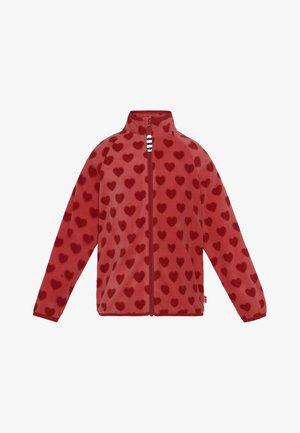ISLA HEART - Fleece jacket - coral samba