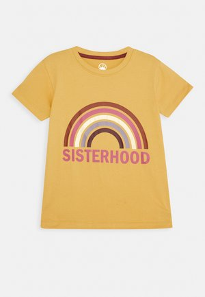 RACKYA TEE - Print T-shirt - sauterne