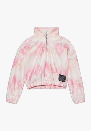 FUNNEL NECK  - Felpa in pile - pink light