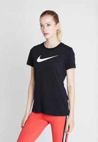 Nike Performance - DRY TEE CREW - T-shirt imprimé - black/white - 0