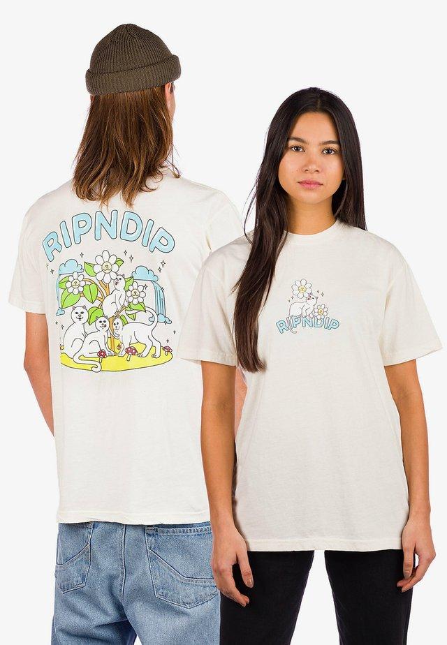 Print T-shirt - natural
