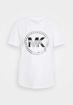 CHAIN LOGO - T-shirt print - white