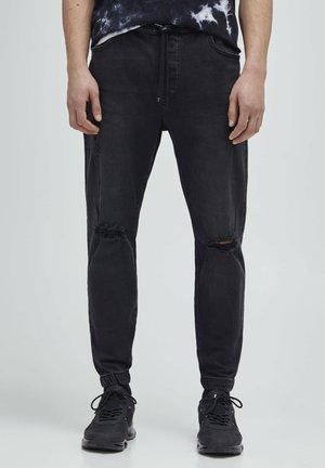 Jean boyfriend - mottled dark grey