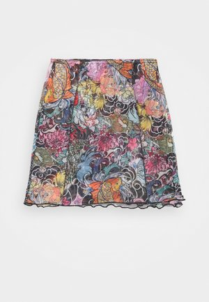 FLORAL FISH MINI SKIRT - Mini skirt - multi-coloured