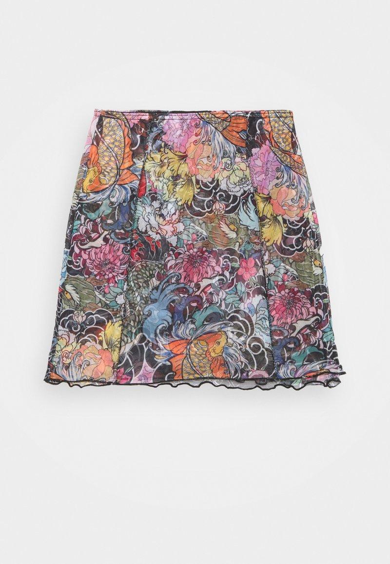 NEW girl ORDER - FLORAL FISH MINI SKIRT - Mini skirt - multi-coloured