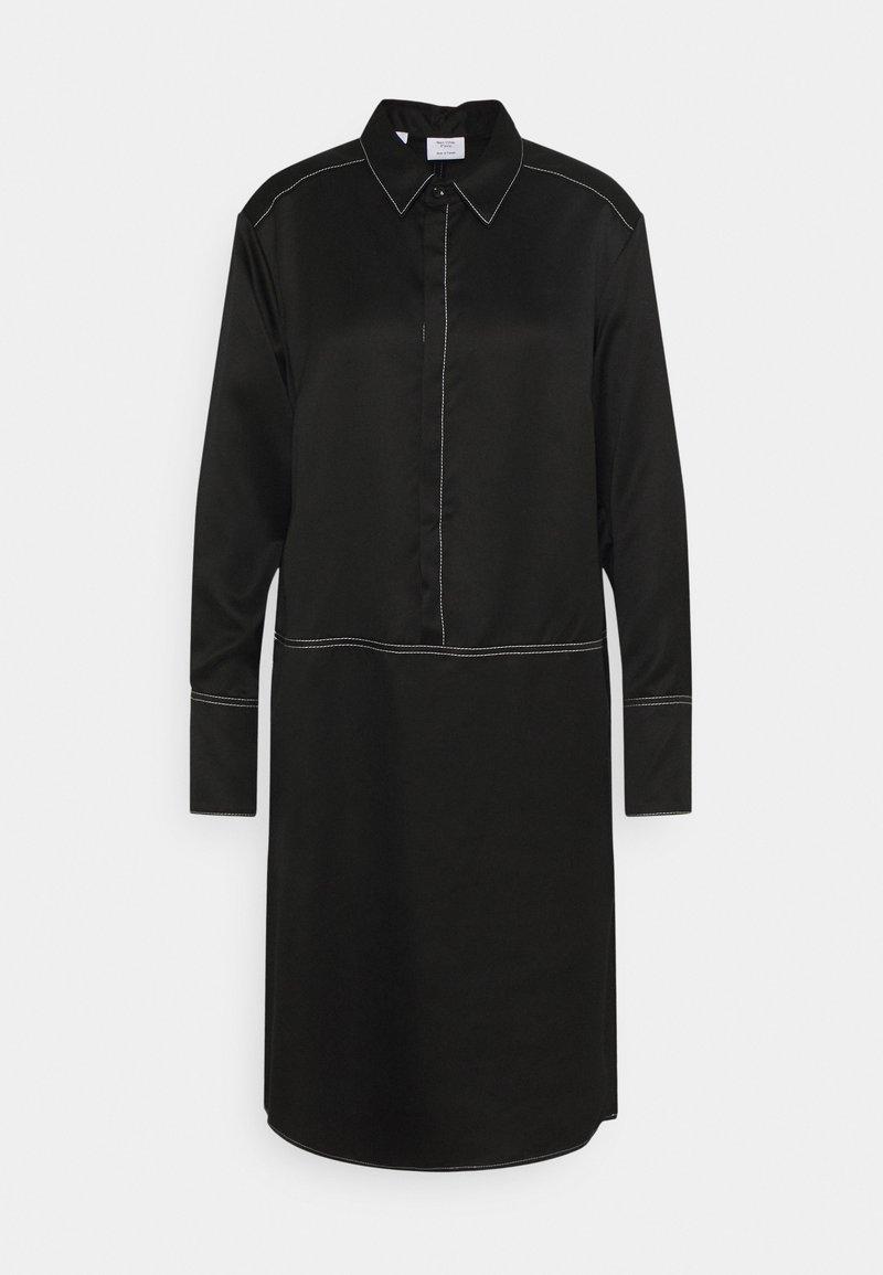 Marc O'Polo PURE - SHIRTDRESS CONCEALED BUTTON PLACKET COLLAR HIGH CUFFS  - Shirt dress - pure black