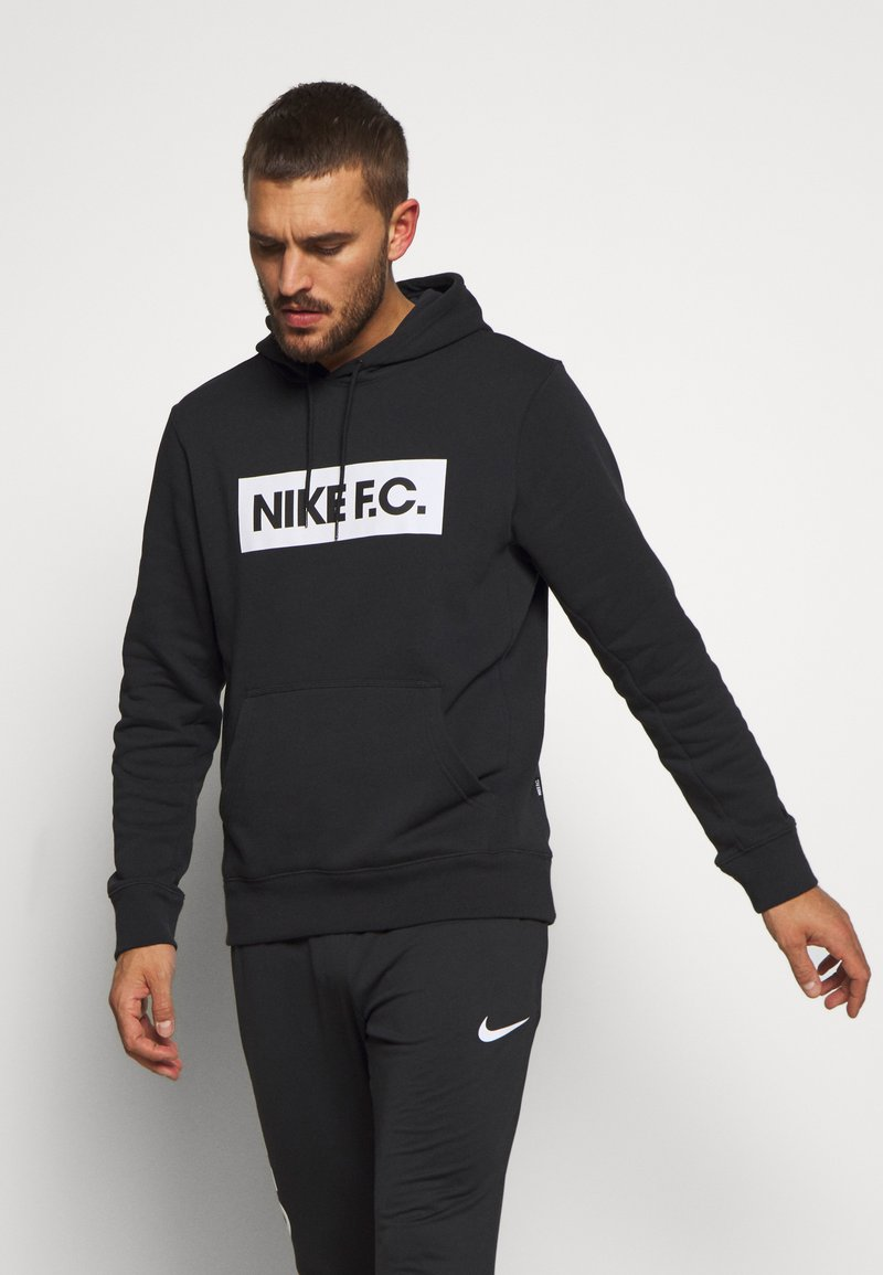Nike Performance - FC HOODIE - Felpa con cappuccio - black