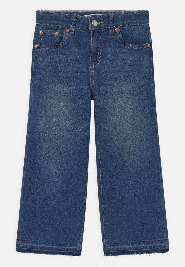 CROPPED WIDE LEG - Relaxed fit -farkut - blue denim